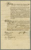 Bond from Christopher Jeaffreson Esqr to Charles Pym Esqr for £800 Dated 27th: Sepr. 1738 (docket title).