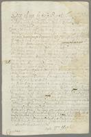 1685. A copy of Sir Wm. Stapletons Grant of the use of the Old Road River with permission to build mills & Indego warehouses