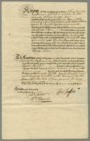 Bond from Christopher Jeaffreson Esqr to Charles Pym Esqr for payment of £400 Dated 20 Nov. 1739 (docket title).