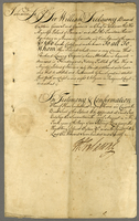 Affidavit, 1 p., signed by Sir William Trelawny and dated Jamaica...
