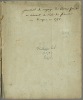 journal du voyage du Baron Grant en revenant de l'isle de france en Europe, en 1758. (ms. cover title)
