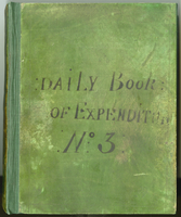 Daily Book: Of Expenditur No: 3: (front cover title).