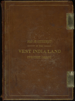 Deed Of Settlement Of The West India Land Investment Company (ms. cover title)