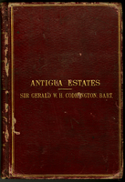 Antigua Estates Sir Gerald W. H. Codrington, Bart. (ms. cover title)