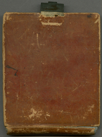 Journal. Steamer Tagus to Gibraltar & Troop ship Apollo to Jamaica from Oct. 31, 1839-April 26, 1840. 11.5 x 9.5 cm. Brown leather cover with metal closure. Box 21