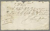 7 of February, 1678/9. Receipt of payment to Thomas Pulham