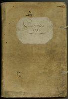 Military account book, Paris, 1779?, Printed forms bound as a...