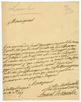 "Martinique, 20 Dec. 1737. ALS to ""Monseigneur"""