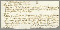 1677-1681. Note concerning the election of a church warden on St. Christophers