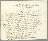 Undated poem composed by the writer's cousin, Christopher