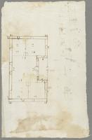 Preliminary sketch for plans, possibly for buildings on the Dullingham, England or Wingfield, St. Kitts estates. Undated