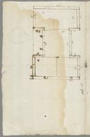 Several preliminary sketches for plans, possibly for buildings on the Dullingham, England or Wingfield, St. Kitts estates. Undated