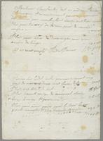 1677-1681. Bill for medical service from André Panier to Christopher Jeaffreson