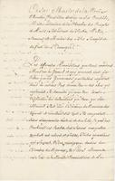 [Copy of an order from De La Croix to De La Neuville]…