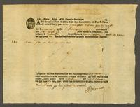 Martinique [1741?] Printed bill of lading