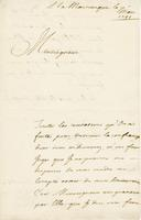 Martinique, 1 March 1741 Covering letter for the order to De La Neuville.Parke-Bernet Galleries, Historical French Documents of the Eighteenth Century …