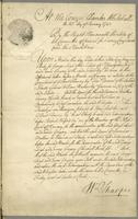 25th Jany 1742. Gilbert Fleming Esqr. agt Govr. Mathew Order in Council to Examine Witnesses (docket title)