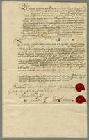 [1728] Bond from Charles Pym and Thos Truman to Chrisr Jeaffreson for Performance of Covenants (docket title).