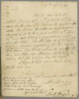 17 April 1743. Ms. Letter to Joshua Sharpe, 13 lines, with integral address.
