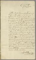 7 May 1743 Fleming agt Matthew} And for hearing in ye Petition.— (docket title)
