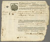 Fort St. Pierre, Martinique, Feb. 1744. Ms. Bill of lading on printed…