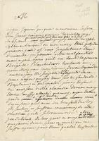 [Paris? 1748?] Ms. letter, signed, to the Comte de Saxe