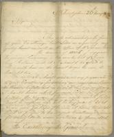 St. Kitts, 30 May 1748. Copy letter