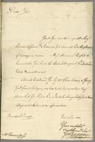 Bermuda, 30 June 1751. Ms. Letter, signed to