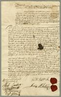 Mr. Burrell et al to Mr Jeaffreson } Covent. Bond 1697 Plantation Manor of Wingfield in ye Isld. of St. Christophers (docket title).