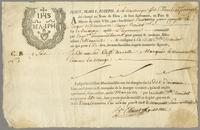 Bill of lading for a sack of coffee, Martinique, 21 Feb. 1756...
