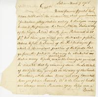 Salem, 7 March, 1758. ALS to Davenport and Co.,...