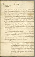 """Case"", ""Sir Fletcher Norton 1 Gua. [i.e., guinea]"", ""Geo: Bristow Winterbottom Mercht. Taylors Hall 10th. Octr. 1765"" on docket title. Case. Barbadoes. William Singleton Commander of the Ship..."