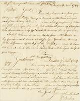 London, 8 Nov. 1759. Ms. Letter to Davenport and Wentoworth,...