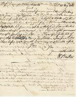 also on the same sheet, copy of letter dated 4 July 1760...