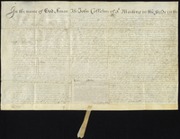 The probate of Sr. John Colleton's Will. 23°. April 1666 (docket title)