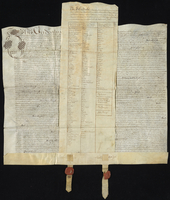 The Conveyances from Sr John Bendyshe and Dame Martha his wife to Mr. John West and William Smith To severall [?] of Barbadoes Lands. 1675. (docket title)
