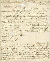 London 27 Nov. 1760. Ms. Letter, signed, to Davenport and Wentworth...