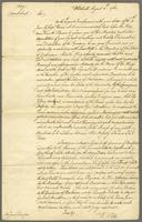 Copy of a Letter from Mr. Pitt to Sir James Douglas-- dated Whitehall, 5th August 1761 (docket title).