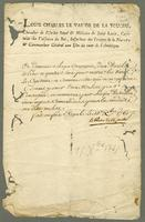 [ms. Order on printed letterhead] Fort Royal, Martinique...