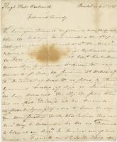 Bristol, 24 Oct. 1765. Ms. Letter, signed, to Hugh Hall Wentworth...