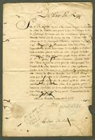 Versailles, 18 April 1766. Ms., 1 p. 36 cm. Seal. Worming with loss...