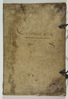 Colonies 1779 (on front cover). 1779/1781. Ms. account book