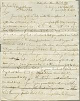 1821. 26 Dec. Christopher Jeaffreson to John Tyson...