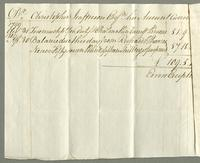 1806. 1 Aug. Christopher Jeaffreson esq his acct current with Richard & Thomas Neave.