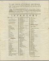 Broadside: To be sold at public auction on Wednesday next, the 3d day of March 1802, …