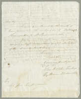 1820. 22 Dec. John Hopton Forbes to Christopher Jeaffreson..