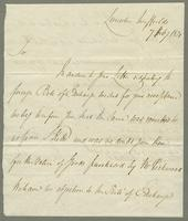 1821. 7 Feb. Visard and Blower to Christopher Jeaffreson...