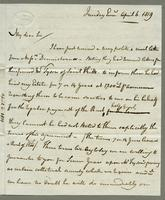 1819. 6 April. Christopher Jeaffreson to Joseph hall...