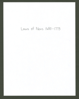 Laws of Nevis 1680 - 1773