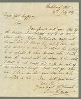 1819. 19 July. James Wildman to Christopher Jeaffreson, 1p. and reply, 13 Aug., 1p.